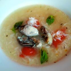 Рисовий суп з мідіями