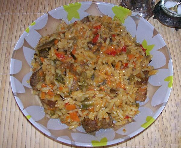 М'ясо з рисом
