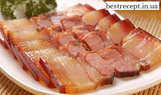 Копчена свиняча грудинка