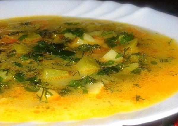 Суп із кабачків з рисом