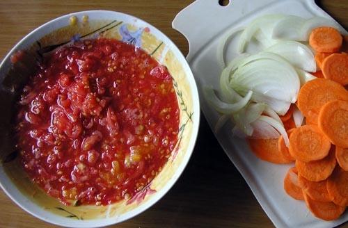 Маринад червоний з овочами