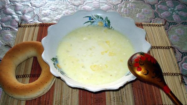 Суп молочний із крупою