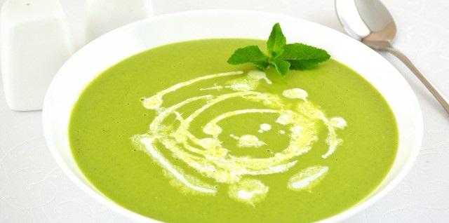 Суп-пюре з горошку зеленого сушеного
