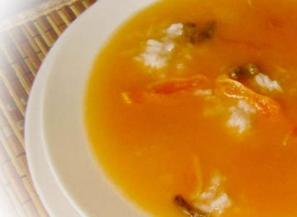 Суп-пюре з кураги з рисом