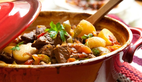Рагу з телятини з овочами