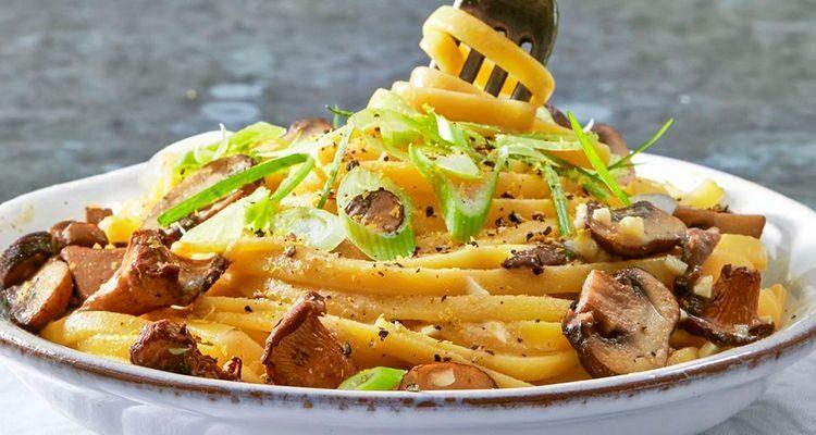 Рецепт спагетті з грибами